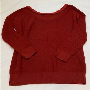 Sezane scoop back sweater